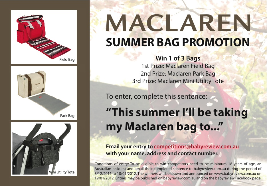 Win a Maclaren Summer Bag