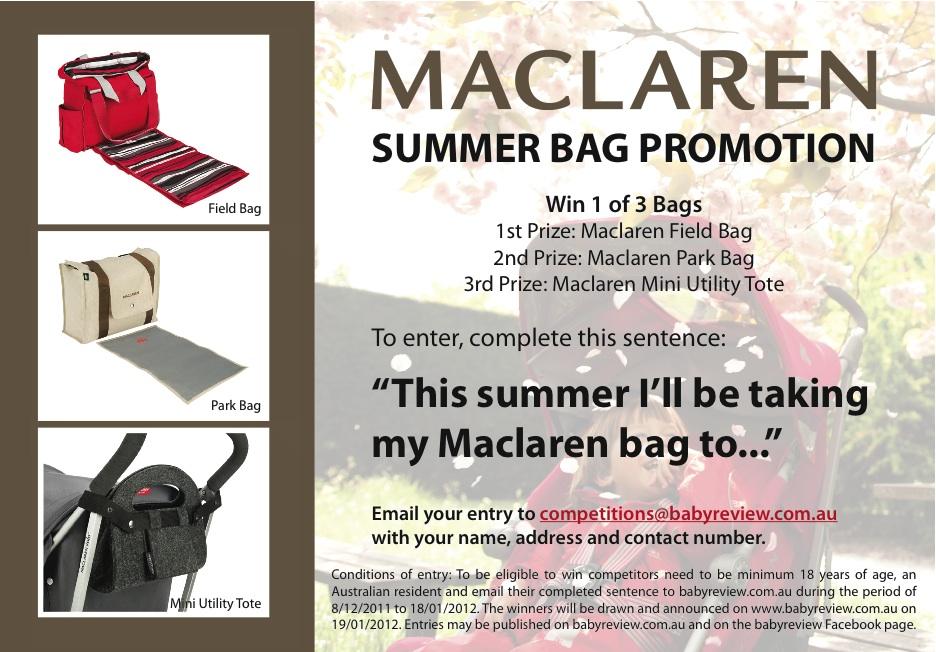 Win a Maclaren Summer Bag