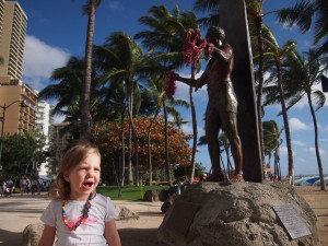 Statue of surfing legend Duke Kahanamoku